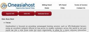常规:OneAsiaHost $7/月OpenVZ/256MB/20GB/400GB 新加坡