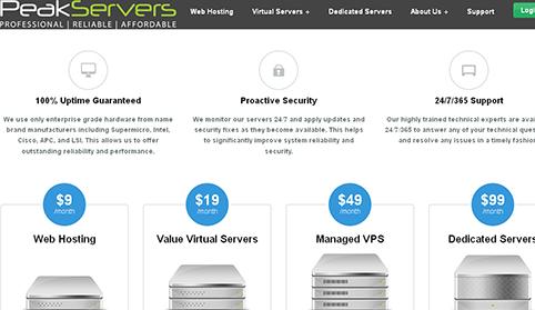 便宜:peakservers $6年付/256m内存/128swap/10g硬盘/500g流量/达拉斯