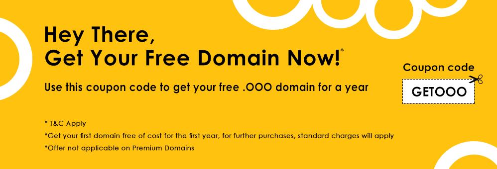 免费购买一年OOO域名