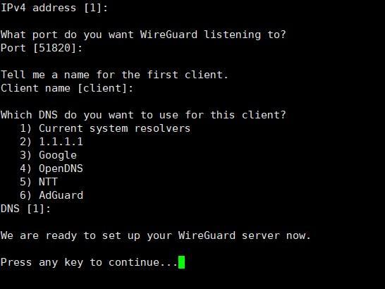 Linux 一键安装WireGuard附一键安装包